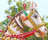 Horse head statue auroville india Royalty Free Stock Photo