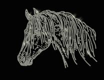 Horse head strass Royalty Free Stock Photos