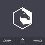 Horse head. Stylized Dark Horse Head for Mascot Logo Template on Dark Background Royalty Free Stock Images