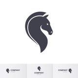 Horse head. Stylized Dark Horse Head for Mascot Logo Template on White Royalty Free Stock Photo