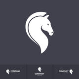 Horse head. Stylized Horse Head for Mascot Logo Template on Dark Background Stock Photo