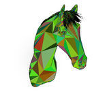 Horse head symbol trendy style geometric. Horse head symbol of New Year 2014 trendy style geometric on white background in vector Royalty Free Stock Image