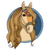 Horse head. Symbol of a horse head vector illustration royalty free illustration