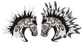 Horse head symbol, vector Stock Photo