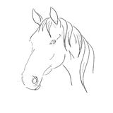 Horse Head Vector. On a white background Stock Illustration