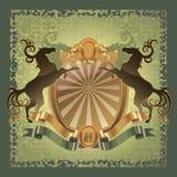 Horse heraldry coat Stock Images
