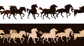 Horse herd vector Stock Images