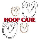Horse hoof on white background. Vector illustration Stock Photo