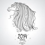 Horse horoscope Stock Image