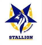 horse. horse mascot. Stallion. royalty free illustration