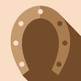 Horse horseshoe. Flat vector image.  Stock Photography