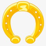 Horseshoe from gild. Horse horseshoe from metal gold on white background is insulated vector illustration