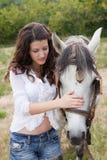 Horse hug Stock Photography