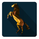 Horse. Illustration of abstract elegant horse with geometric  composition Royalty Free Stock Photo