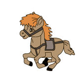 Horse. This image is a  illustration and can be scaled to any size without loss of resolution Royalty Free Stock Photo