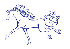 Horse. Ink like drawing of running horse Royalty Free Illustration