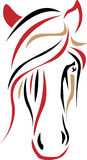 Horse. Isolated brush stroke horse head line art illustration Stock Photography