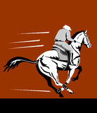 Horse and jockey. Vector art of a Horse and jockey on a winning run Royalty Free Stock Photo