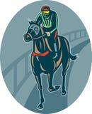 Horse and jockey racing Royalty Free Stock Photos