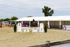 Horse jump Stock Images