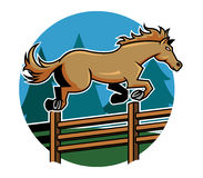 Horse Jump Ranch Fence Royalty Free Stock Images
