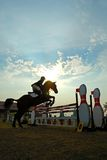 Horse jumping. A show jump horse trying to overcome hurdles at Premiercup Equestrian event in Putrajaya Malaysia Stock Photography