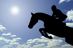 Horse jumping Stock Photos