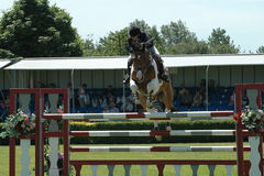 Horse jumping. Lincolnshire show 2005 stock photography