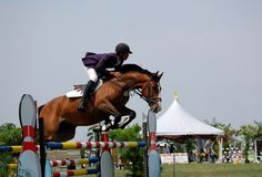 Horse Jumping. Show jumping Premier Cup 2009, June 18-21, 2009 in Putrajaya, Malaysia Stock Photography