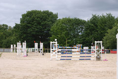 Horse jumping arena in Le Pompidou France Royalty Free Stock Photography