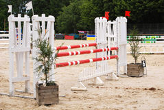 Horse jumping arena in Le Pompidou France Stock Photos