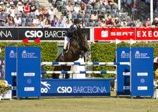 Horse jumping - Athina Onassis Stock Image