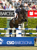 Horse jumping - Athina Onassis Stock Photo