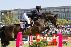 Horse jumping - Athina Onassis Royalty Free Stock Image