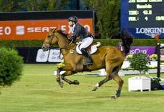 Horse jumping - Carlos Ribas Stock Image