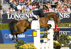Horse jumping - Cassio Rivetti Royalty Free Stock Photography