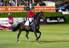 Horse jumping - Chris Pratt Stock Images