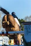 Horse Jumping Closeup. Horse jumping poles closeup unidentified rider Stock Image