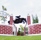 Horse jumping competition Royalty Free Stock Photography