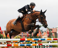 Horse jumping competition Royalty Free Stock Photos