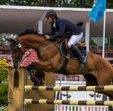 Horse jumping competition Royalty Free Stock Photo