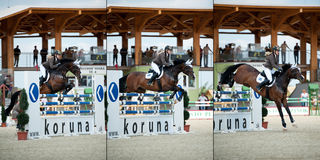 Horse jumping competition in Pezinok, Slovakia Stock Photos
