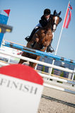 Horse jumping competition in Pezinok, Slovakia Stock Images