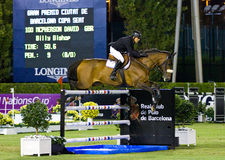Horse jumping - David McPherson Royalty Free Stock Images