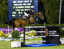 Horse jumping - Edwina Alexander royalty free stock photography