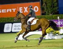 Horse jumping - Eric Lamaze Stock Photos
