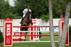 Horse-jumping Grand Prix Bratislava CSIO-W*** 2010 Stock Photography