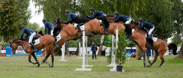Horse-jumping Grand Prix Bratislava CSIO-W*** 2010 Royalty Free Stock Photo