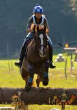 Show Jumping. Open Day Trails, Horse in mid Jump Royalty Free Stock Photography