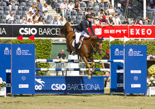 Horse jumping - Pedro Veniss Stock Image